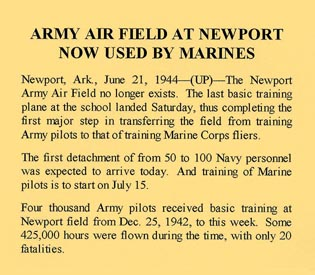 Army Airfield at Newport Now Used by Marines