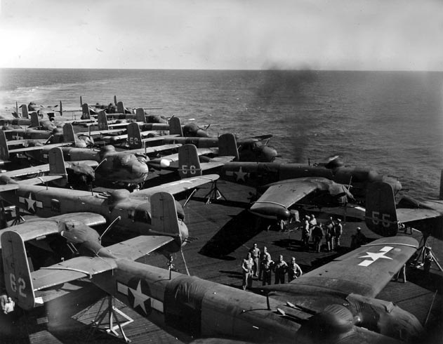 Aircraft Aboard the USS Tulagi