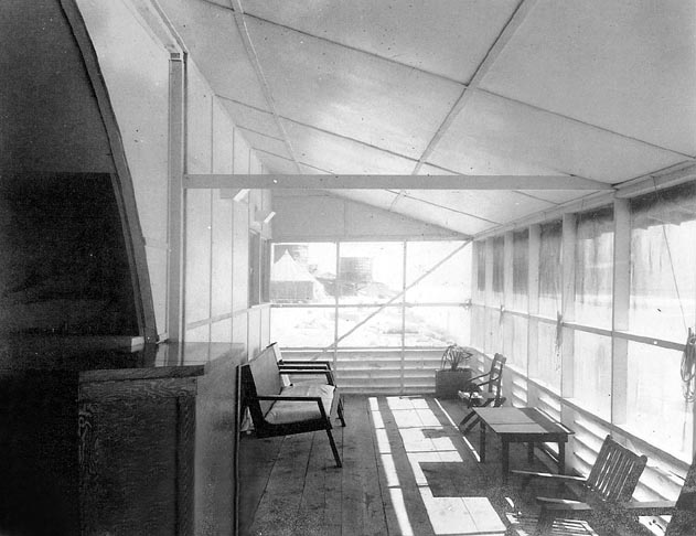 Interior of the Officer's Club Veranda